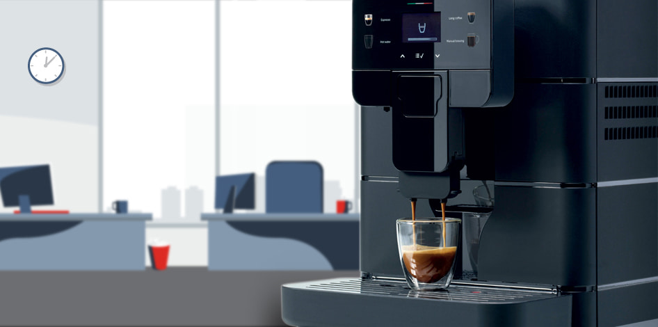 macchina da caffè ufficio saeco royal