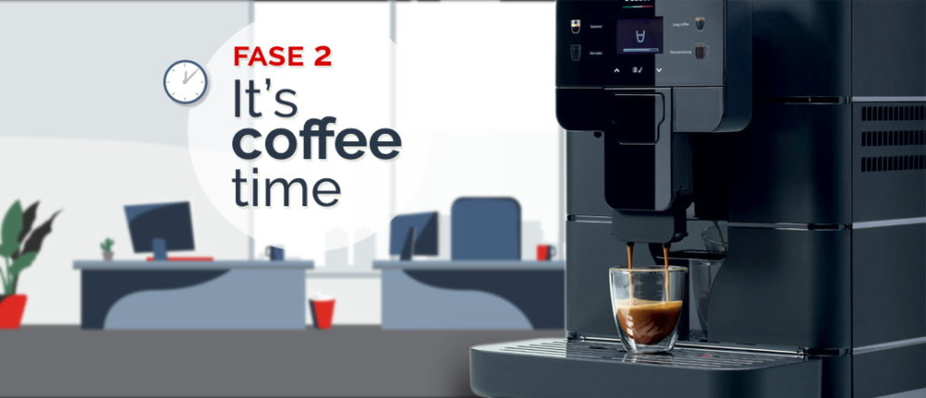 time to coffee, macchina da caffè ufficio saeco royal