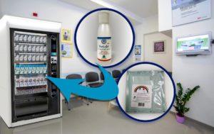 gel igienizzante e mascherine per distributori automatici