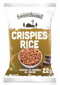 Crispies rice, chicchi di cereali al cacao monoporzione