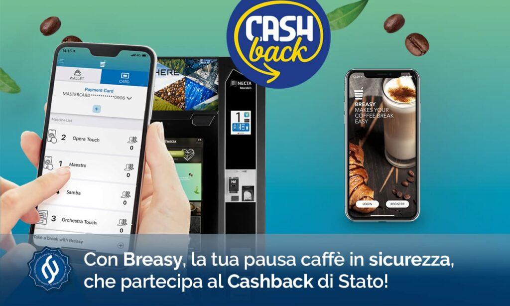 App per distributori automatici breasy vending machine
