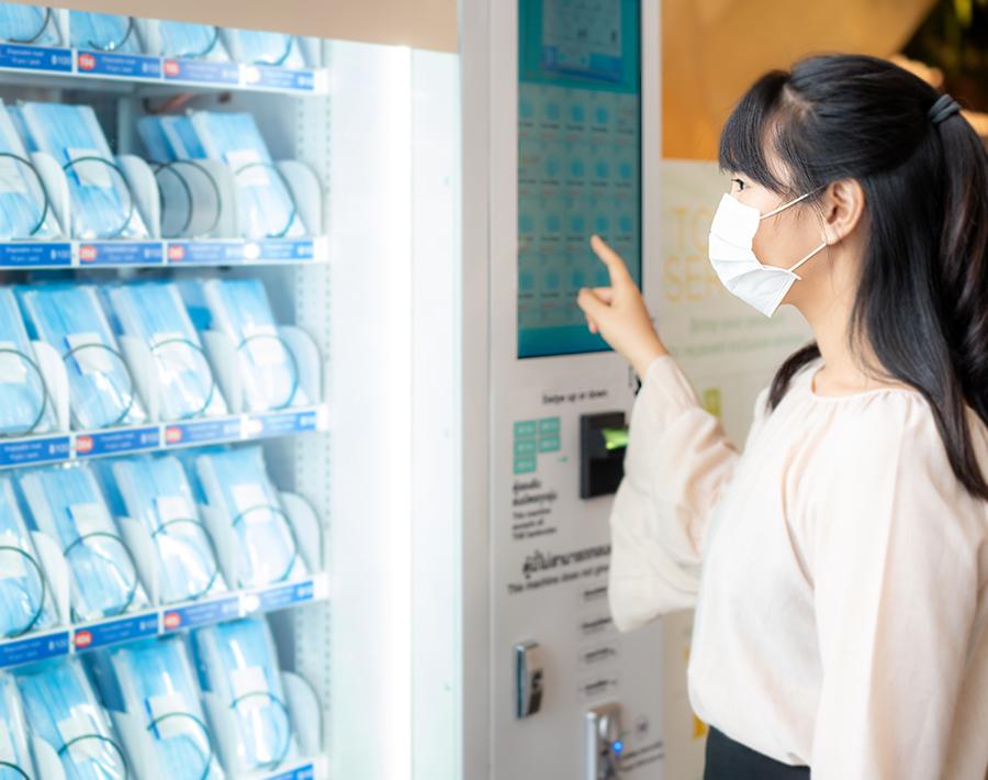 distributore automatico mascherine h24