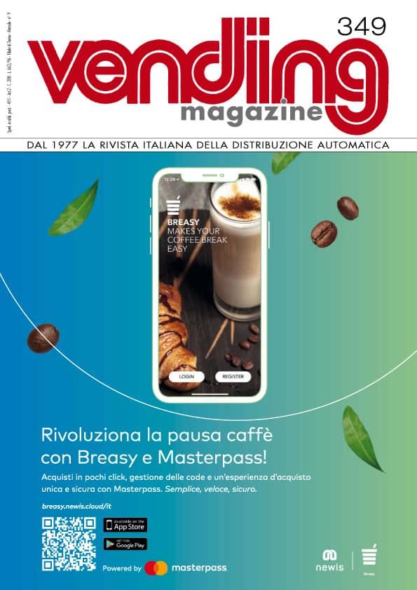 Vending Magazine, Breasy app in copertina