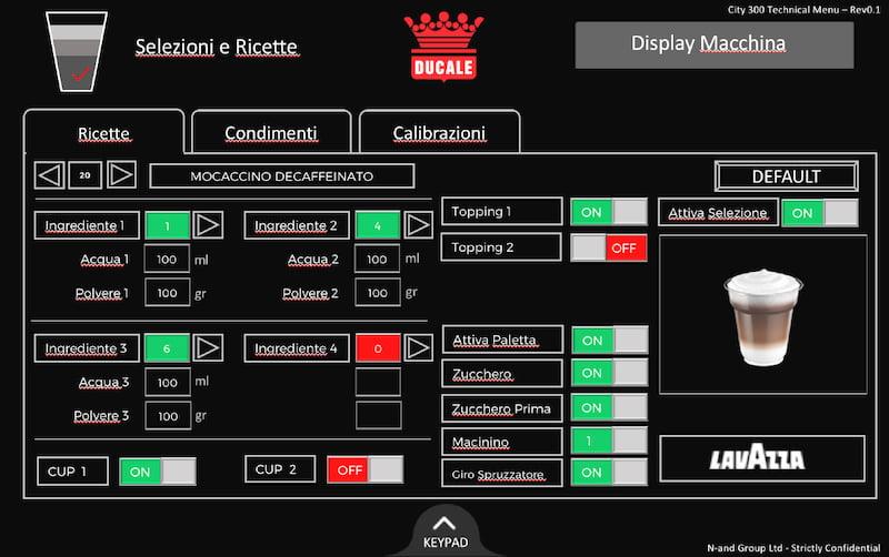 Menu operatore tecnico Ducale City 300 TT
