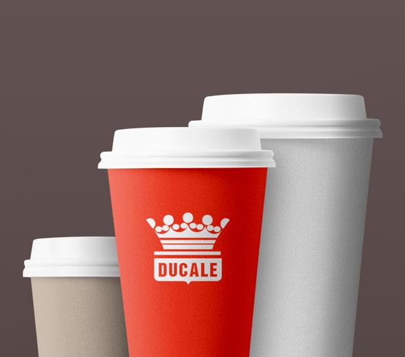 differenti formati bicchiere da caffè della Ducale Vending