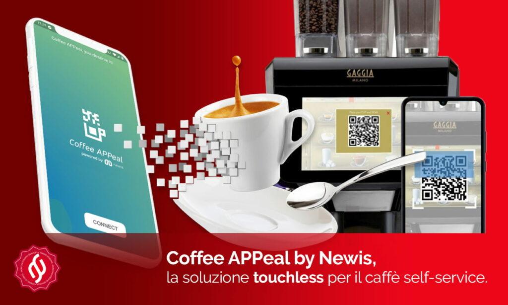 coffee app newis, la sicurezza touchless per macchine da caffè automatiche
