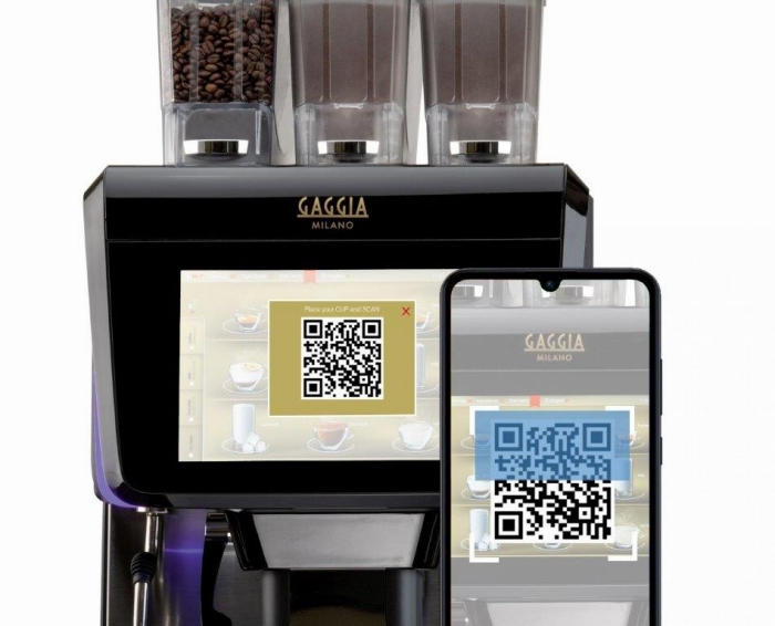 La radiosa by gaggia milano QR code coffee app