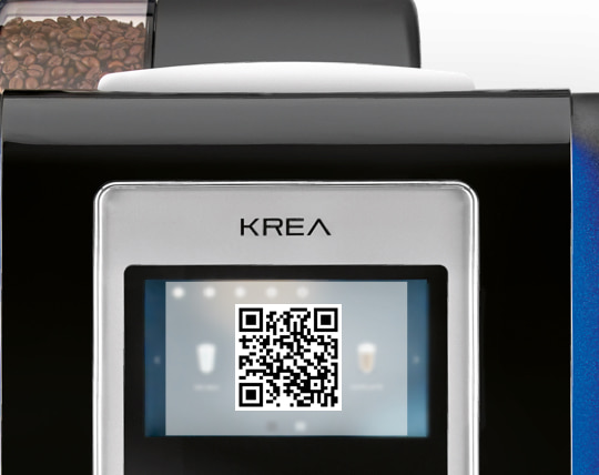 krea toch by necta QR code coffee app