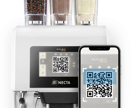 kalea plus by necta QR code coffee app
