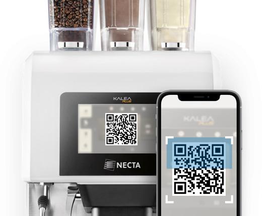 kalea plus by necta QR code coffee app