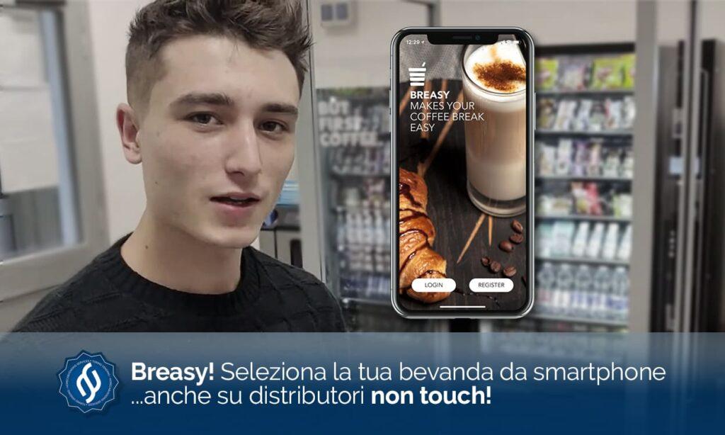selezione caffè da smartphone con coffee app