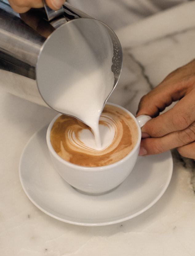 cappuccino cremoso al bar