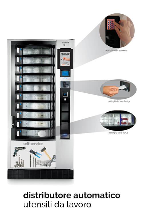 distributore automatico utensili da lavoro