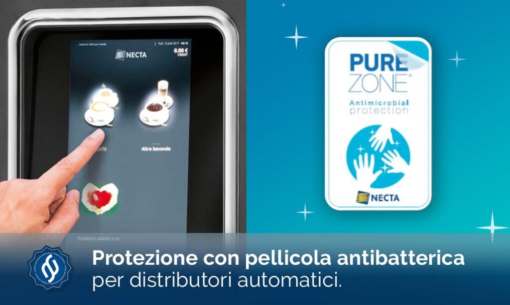 pellicola antibatterica distributori automatici