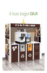 mobili in cartone coffee break